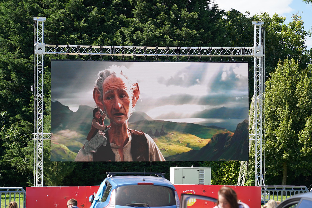 Video screen hire for drive-in cinema