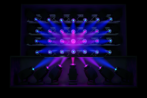 Light Pack 2 (Moving Heads) - Split DJ Booth (Video Mapped)