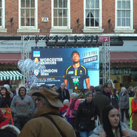 Digital Advert at Christmas Market