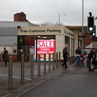 Digital Advert in shop frontage