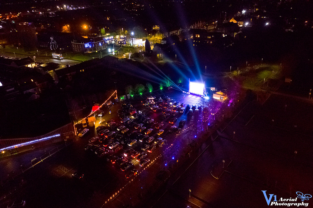 Drive-In Cinema Hire - Photograph provided by V1 Aerial Photography