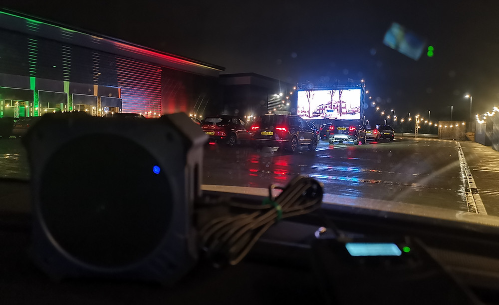 In-car speaker hire for drive-in cinemas and events.