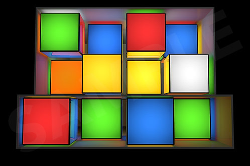 Rubix Cube Pack - Split DJ Booth (Video Mapped)