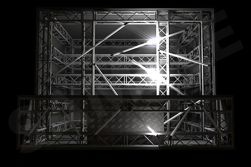 Lighting Pack - Split DJ Booth (Video Mapped)