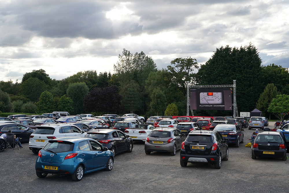 LED video screens allow daytime and evening film screenings