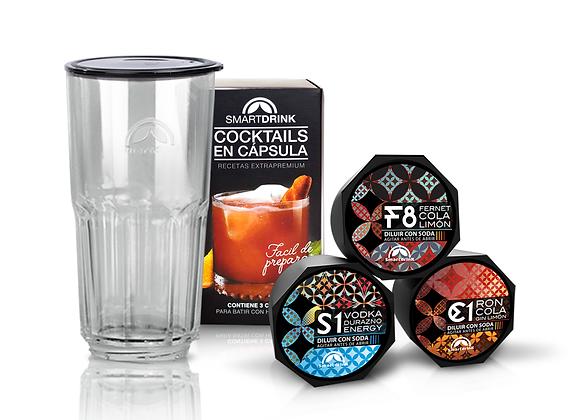 Combo 3 Cápsulas Surtidas Clasicas +1 Coctelera Smartdrink