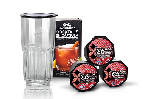 Combo 3 Cápsulas Red Daiquiri +1 Coctelera Smartdrink