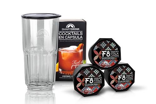 Combo 3 Cápsulas Cocktail Fernet +1 Coctelera Smartdrink
