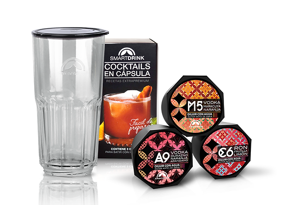 Combo 3 Cápsulas Surtido Frutal +1 Coctelera Smartdrink
