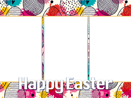 Photo Booth Easter Overlays