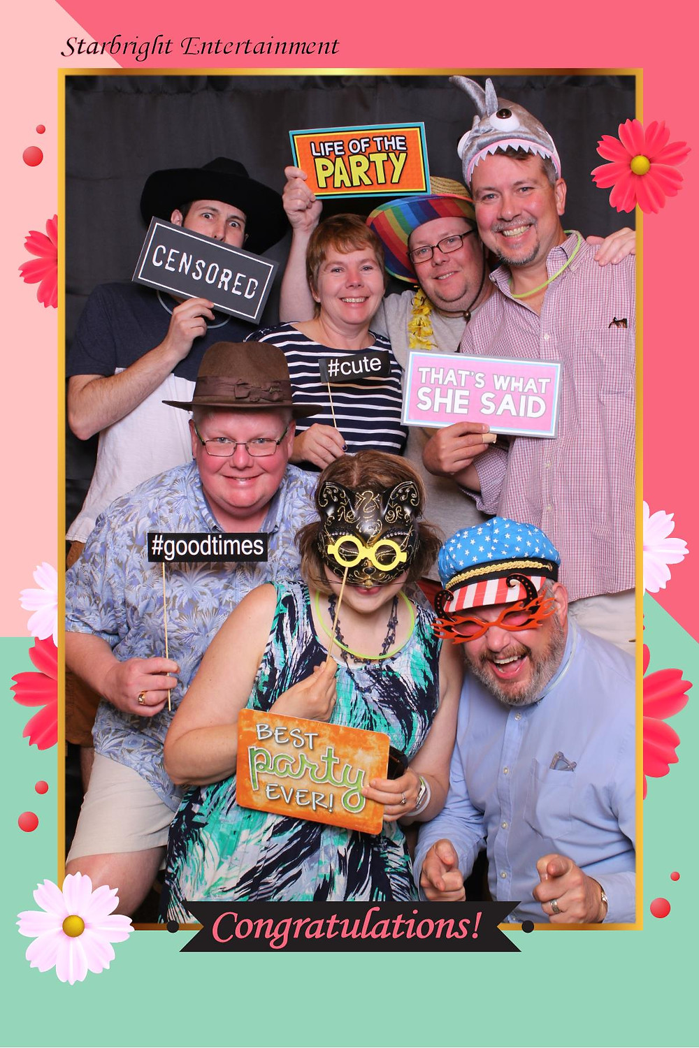 Guests having a great time at our Mirror Me Photo Booth.