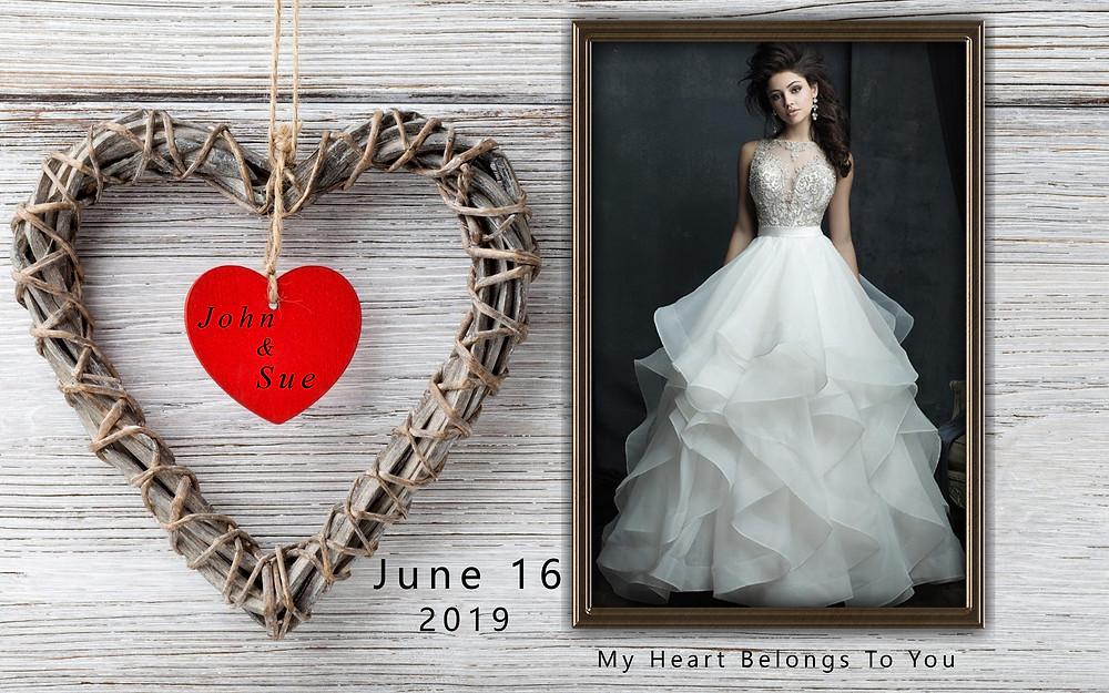 Model in white wedding dress