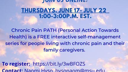 MSU-Extension presents Chronic Pain PATH