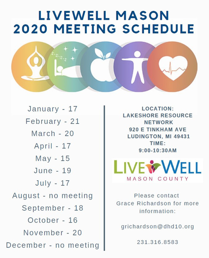 LiveWell Mason County 2020 Meetings