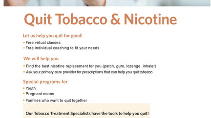Quit Tobacco and Nicotine!