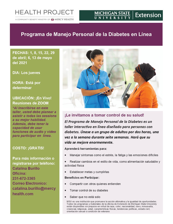 Program de Manejo Personal de la Diabetes *Spanish Diabetes PATH*