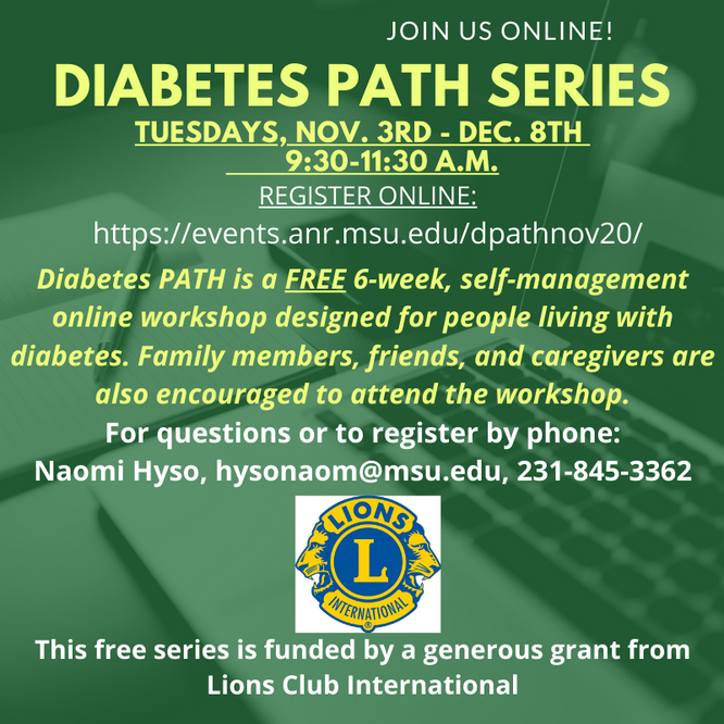 MSU-E offering Diabetes PATH Series in November