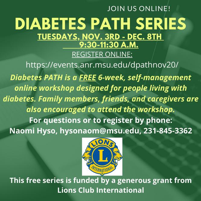 MSU-E offering Diabetes PATH Series in November