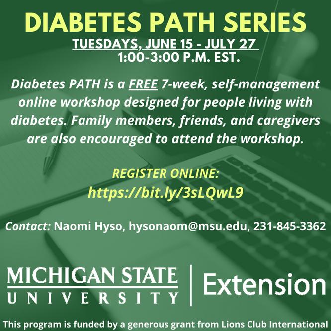 MSU-E offering Diabetes PATH Series in June