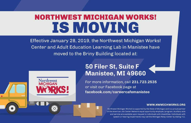 Northwest Michigan Works! is Moving