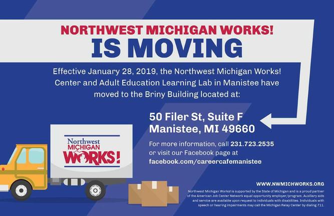 Northwest Michigan Works! is Moving