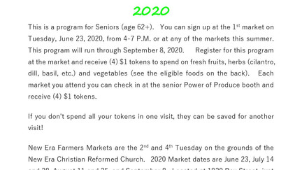 Senior POP New Era Farmer's Market