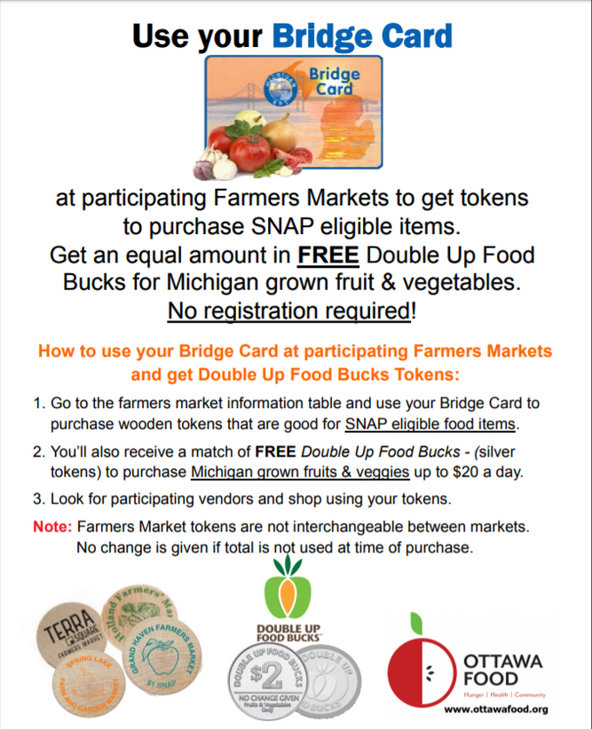 Farmers Markets and Double Up Food Bucks
