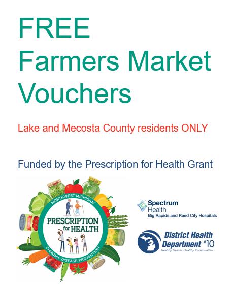 Prescription for Health & Downtown Big Rapids Farmers Market