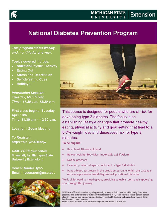National Diabetes Prevention Program Lunch and Learn