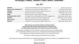 July Newaygo County Mobile Food Pantry Schedule