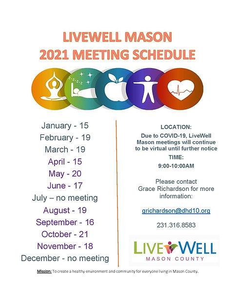 Livewell Mason 2021 new meeting schedule
