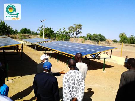 Réception provisoire de minicentrales hybrides par les autorités maliennes et l'UEMOA