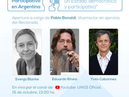 Jornadas: El Presupuesto Participativo en Argentina