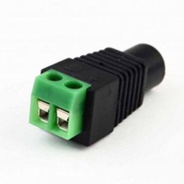 Power Plug - Female 2.1 mm x 5.5 mm, screw terminals