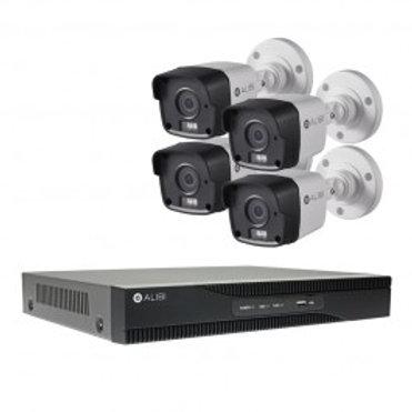 HD-TVI Security Camera, System - 4-Camera, 3.0 Megapixel, 65' IR, Hybrid+, Outdo