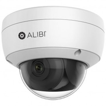ALIBI 4MP STARLIGHT 100' IR SMARTSENSE VANDALPROOF IP H.265+ DOME CAMERA