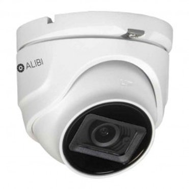 ALIBI 8MP HD-TVI/AHD/CVI/CVBS 120' IR MINI TURRET DOME SECURITY CAMERA