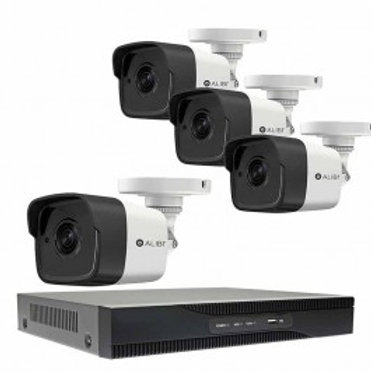 4-CAMERA 5.0 MEGAPIXEL 65' IR HD-TVI HYBRID+ OUTDOOR SECURITY CAMERA SYSTEM WITH