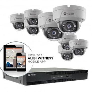 ALIBI 5 MP 8-CAMERA 65' IR HD-TVI HYBRID+ VANDALPROOF SECURITY SYSTEM, WITH 16-C