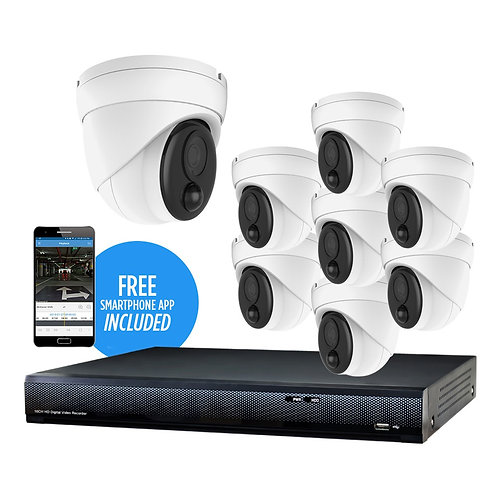 8 MP 8-Camera 95' IR IP Security Kit, with 16-Channel NVR and 2TB HDD