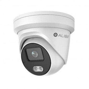 ALIBI 4MP ILLUMINITE 100' WHITE LIGHT H.265+ IP TURRET CAMERA
