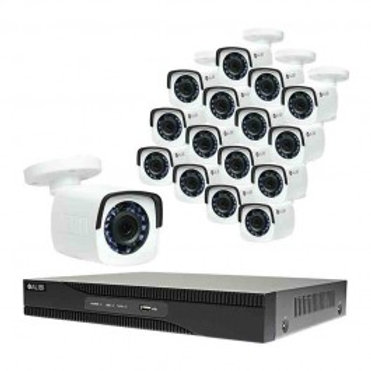 HD-TVI Security Camera, System - 16-Camera, 2.1 Megapixel, 65' IR, Hybrid+, Outd