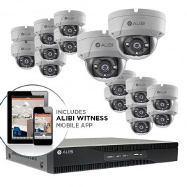 HD-TVI Security Camera, System - 16-Camera, 3.0 Megapixel, 65' IR, Hybrid+, Outd