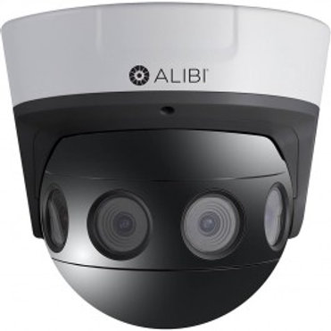ALIBI 4K 8.0 MEGAPIXEL 180° PANORAMIC IP 100' IR SECURITY DOME CAMERA