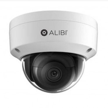 ALIBI 6 MP STARLIGHT 120' IR H.265+ OUTDOOR DOME IP SECURITY CAMERA