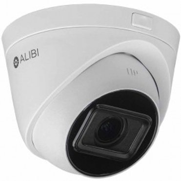 ALIBI 4MP 100' IR H.265+ VARIFOCAL IP TURRET CAMERA