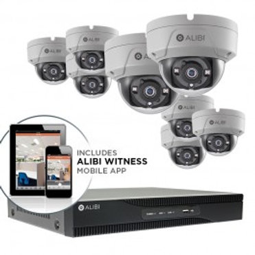 HD-TVI Security Camera, System - 8-Camera, 3.0 Megapixel, 65' IR, Hybrid+, Outdo