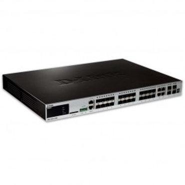 D-Link 20-Port Gigabit SFP xStack Managed L2+ Stackable switch