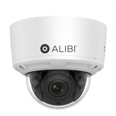 ALIBI 6 MP WDR 100' IR VARIFOCAL IP VANDALPROOF DOME CAMERA