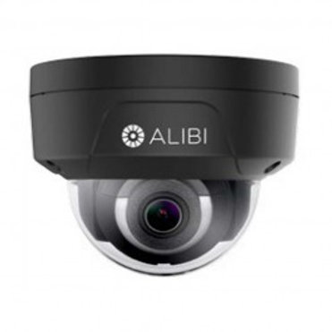 ALIBI 6.0 MEGAPIXEL 120' IR H.265+ OUTDOOR DOME IP SECURITY CAMERA - BLACK